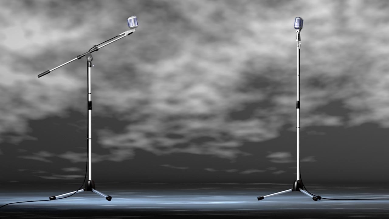 Standard and Boom Mic Stands Included